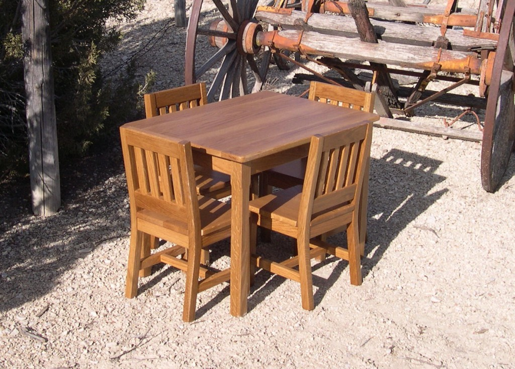 Oak Table and Chairs (1)